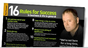 Bob Parsons� 16 Rules for Success in Business and Life in General