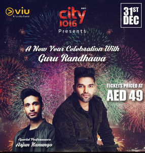 New Year Eve Concert for AED 49 featuring Guru Randhawa