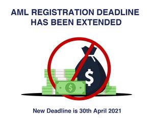 AML registration deadline has been extended