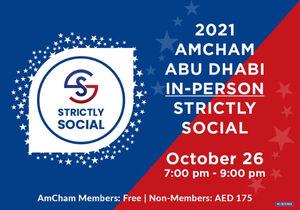 Join AmCham Abu Dhabi 2021 Strictly Social at Conrad Abu Dhabi Etihad Towers